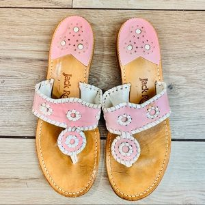 Jack Rogers | Pink white strap | Size 7